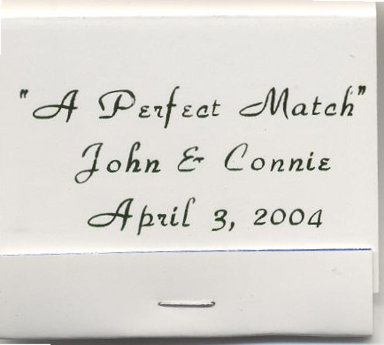 Personalized 30 stem matchbooks